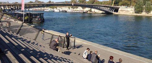 Frokost med udsigt over Seinen